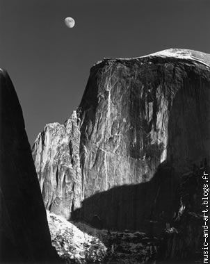 """Moon And Half Dome"",Yosemite National Park,California (1960)"