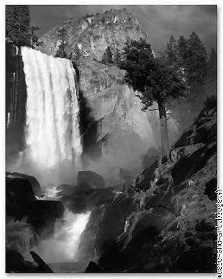 """Vernal Fall"",Yosemite Valley,California (1948)"